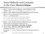 some methods and constants in the class jscrollpane