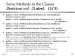 some methods in the classes jbutton and jlabel 3 3