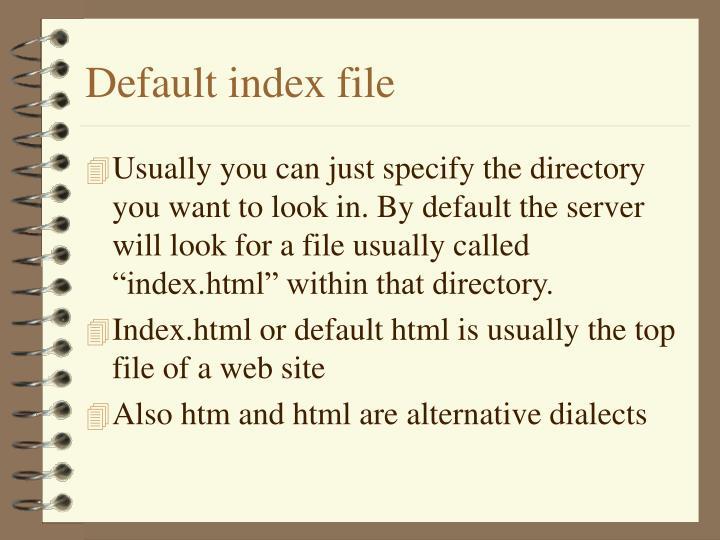 Default index file