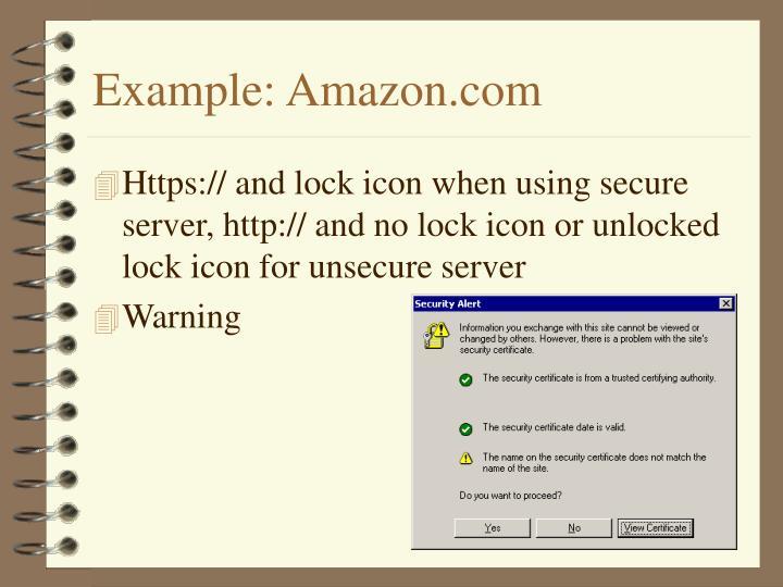 Example: Amazon.com