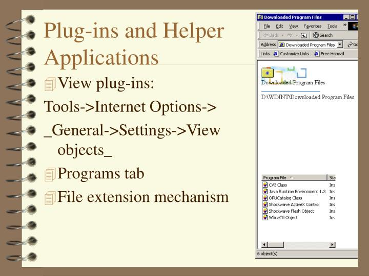 Plug-ins and Helper Applications