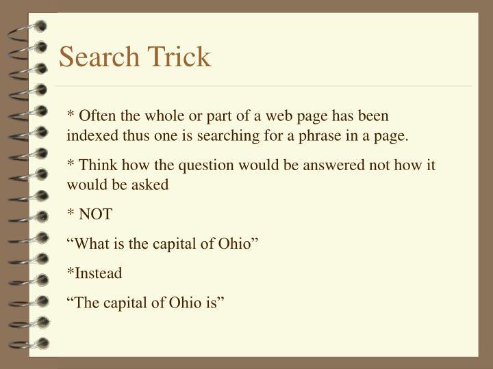 Search Trick