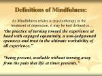 definitions of mindfulness