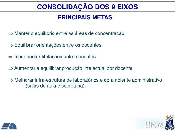 CONSOLIDAÇÃO DOS 9 EIXOS