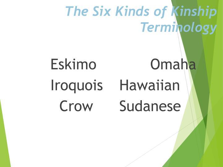 The Six Kinds of Kinship Terminology