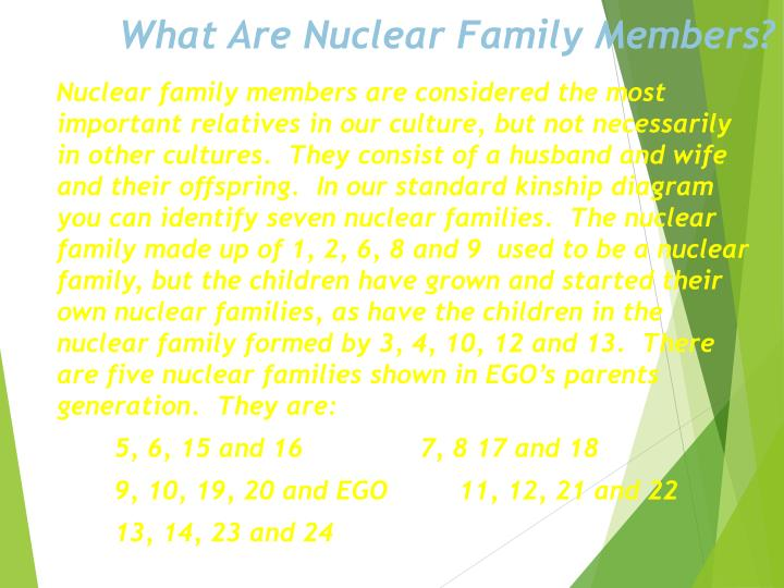 What Are Nuclear Family Members?