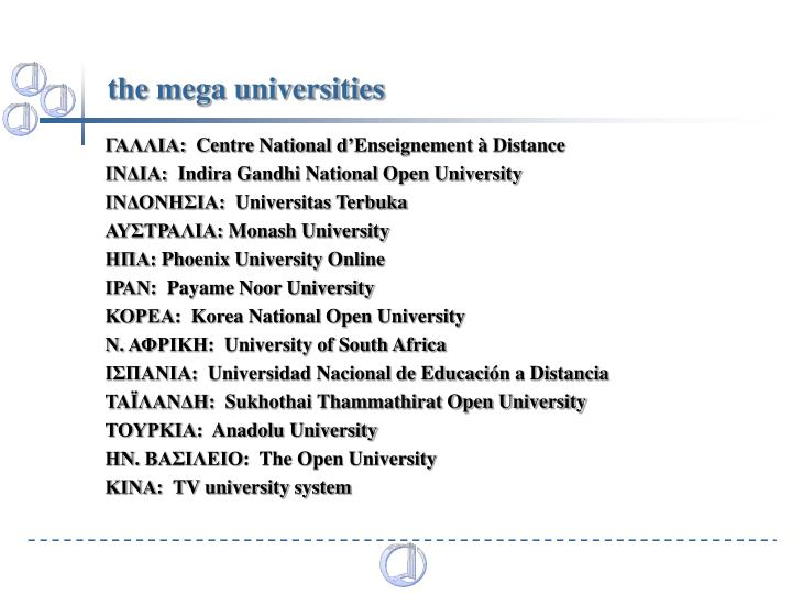 the mega universities
