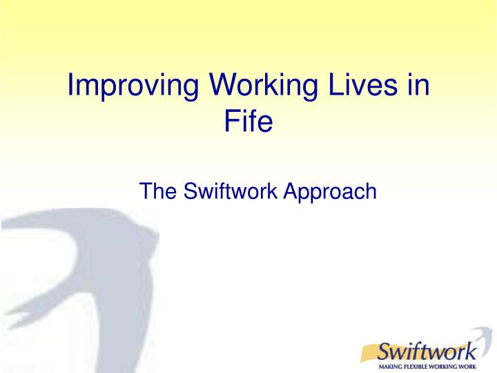 improving working lives in fife n.