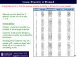 income elasticity of demand2