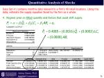 quantitative analysis of shocks10