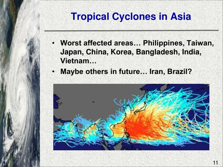 Tropical Cyclones in Asia