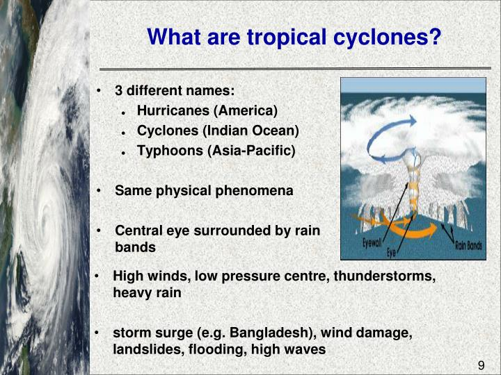 What are tropical cyclones?
