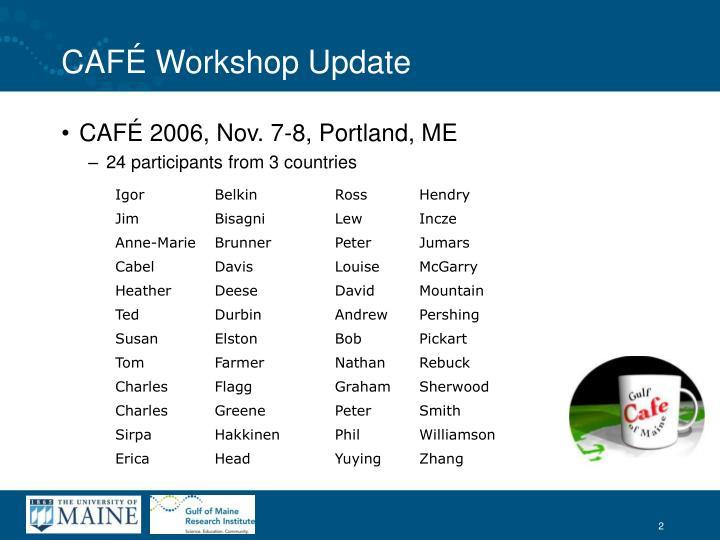 Caf workshop update