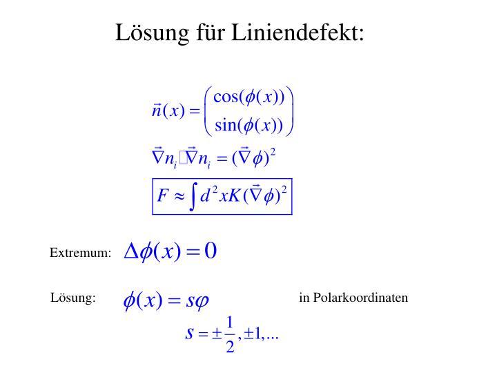 Lösung für Liniendefekt: