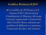 codifica problemi icd 9