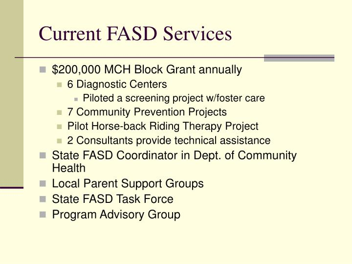 Current fasd services