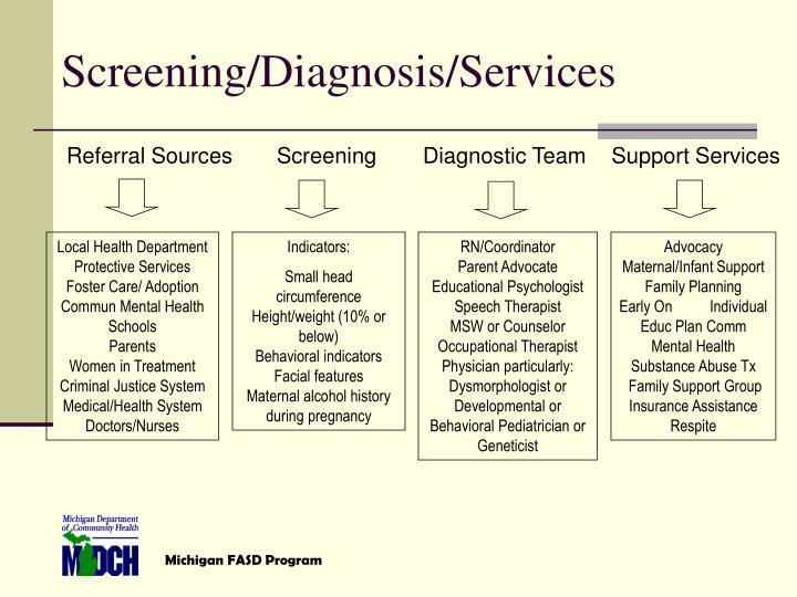 Screening/Diagnosis/Services