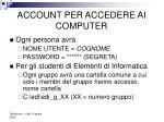 account per accedere ai computer