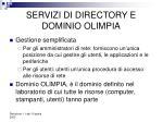 servizi di directory e dominio olimpia