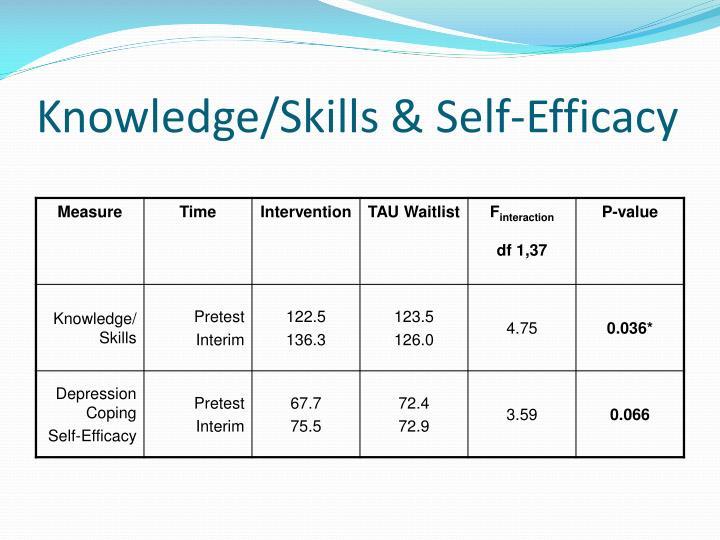 Knowledge/Skills & Self-Efficacy