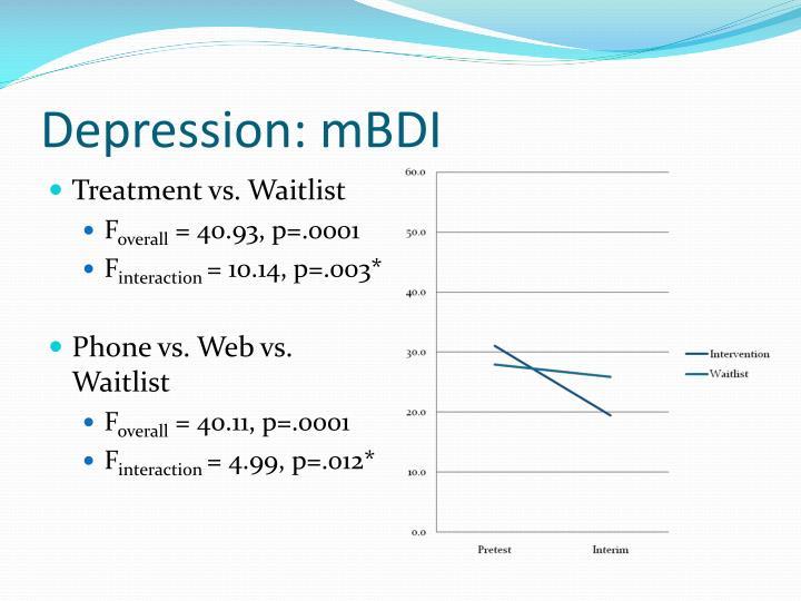 Depression: mBDI