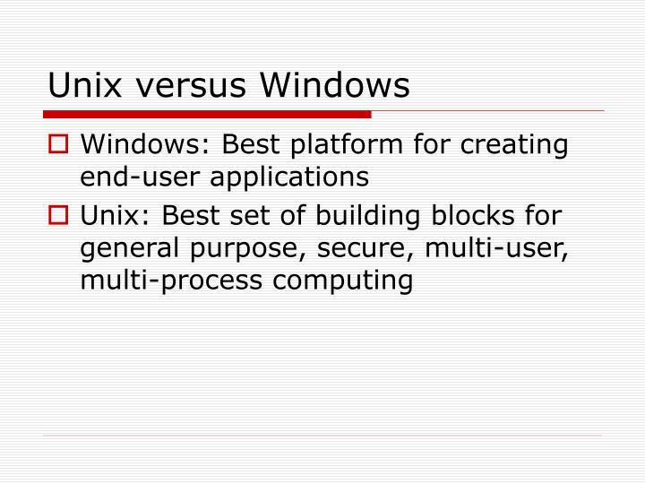 Unix versus Windows