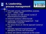6 leadership process management