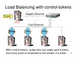 load balancing with control tokens