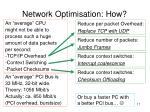 network optimisation how4