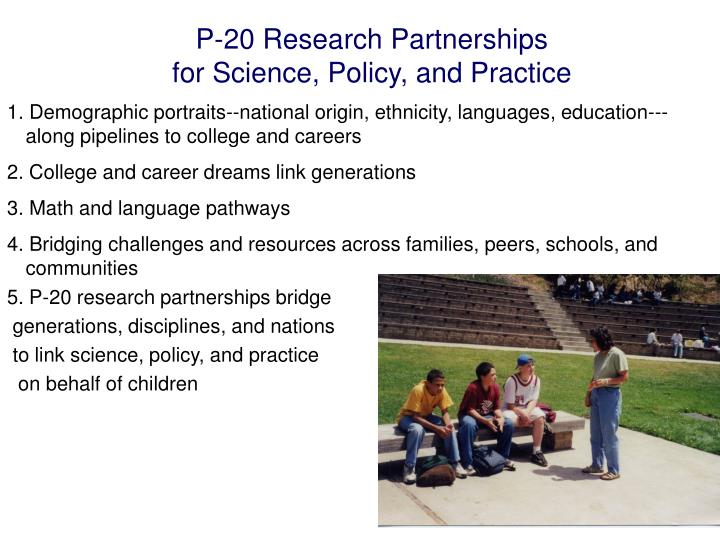 P-20 Research Partnerships