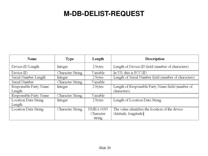 M-DB-DELIST-REQUEST