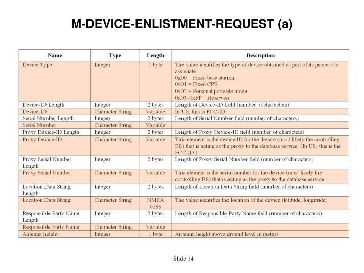 M-DEVICE-ENLISTMENT-REQUEST (a)