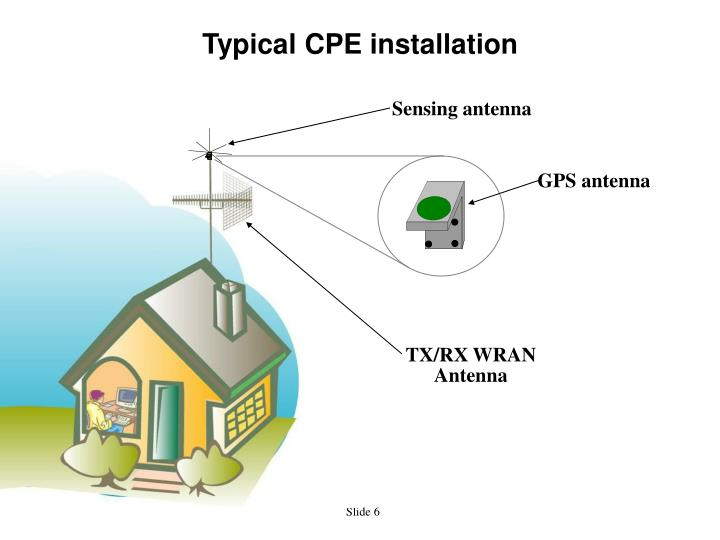 Typical CPE installation