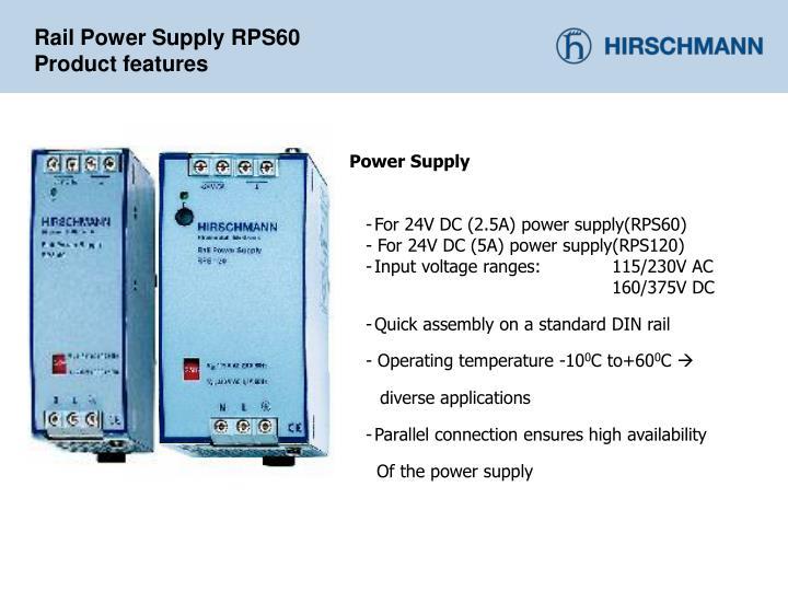 Rail Power Supply RPS60