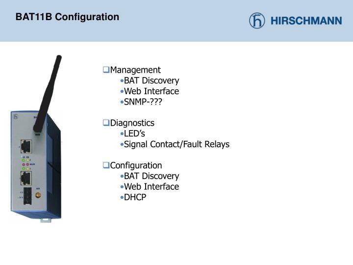 BAT11B Configuration