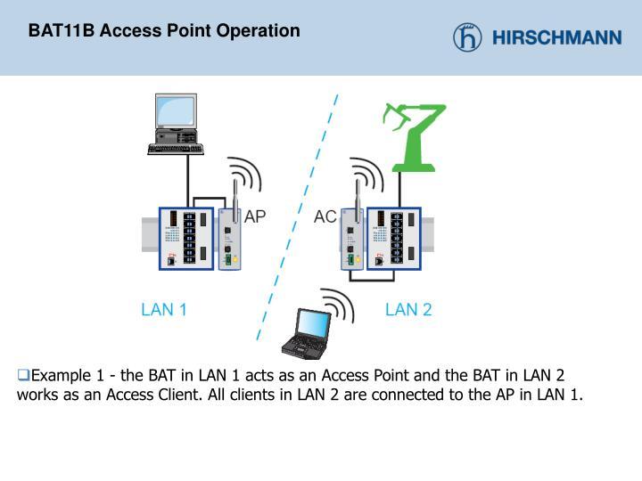 BAT11B Access Point Operation
