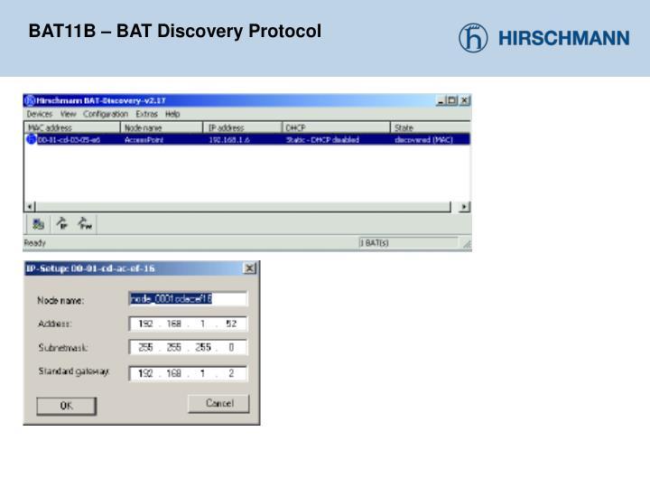 BAT11B – BAT Discovery Protocol