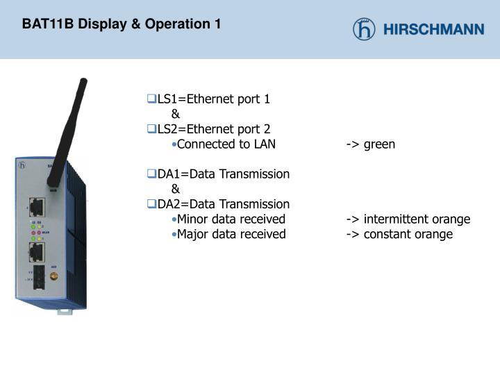 BAT11B Display & Operation 1