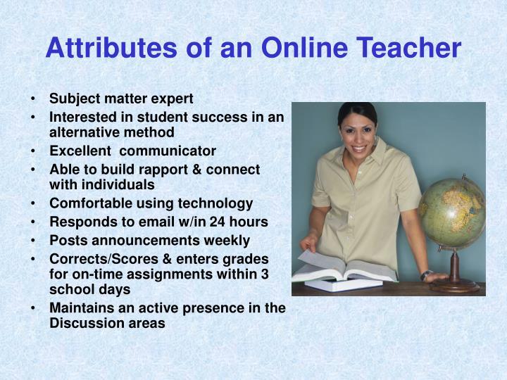 Attributes of an Online Teacher