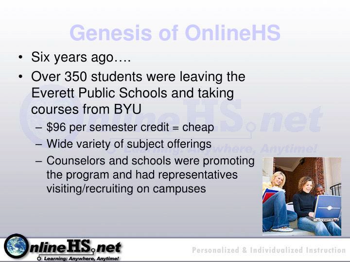 Genesis of OnlineHS