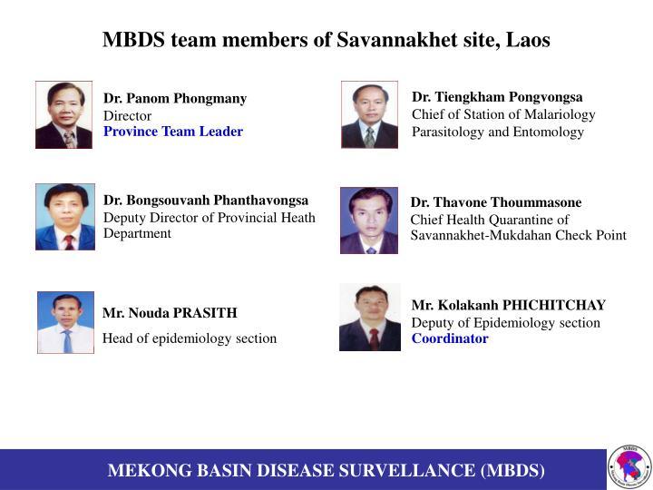 Mbds team members of savannakhet site laos