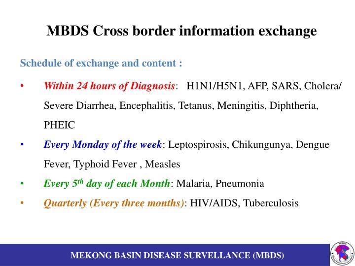 MBDS Cross border information exchange