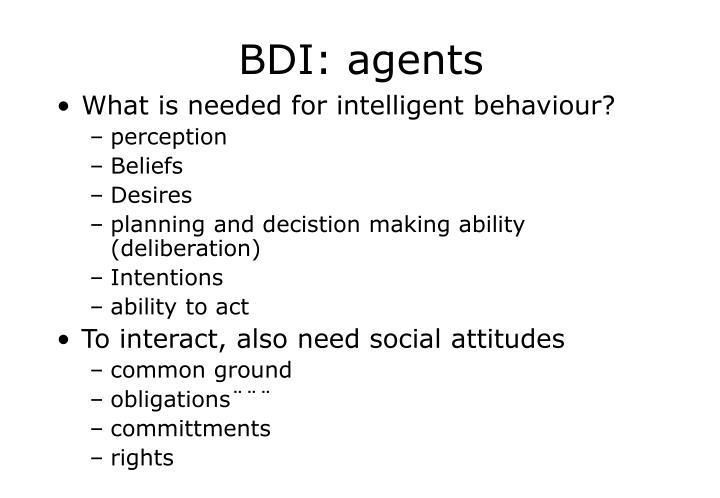 BDI: agents