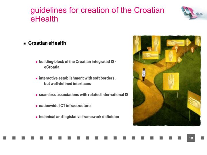 guidelines for creation of the Croatian eHealth