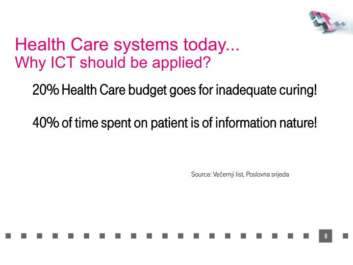 Health Care systems today...
