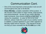 communication cont