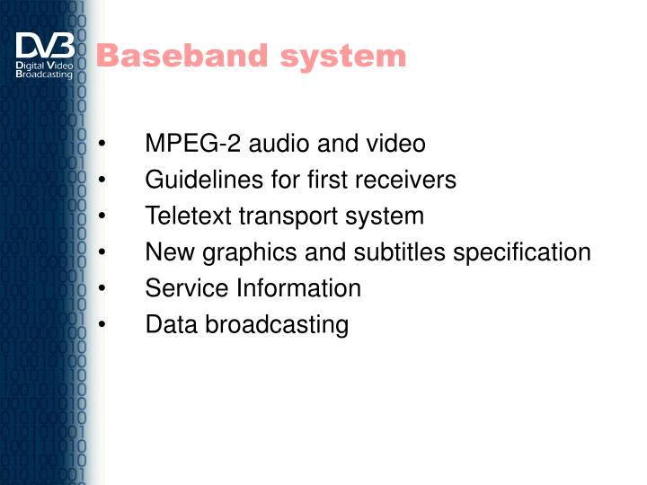 Baseband system