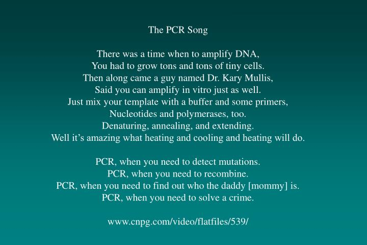 The PCR Song