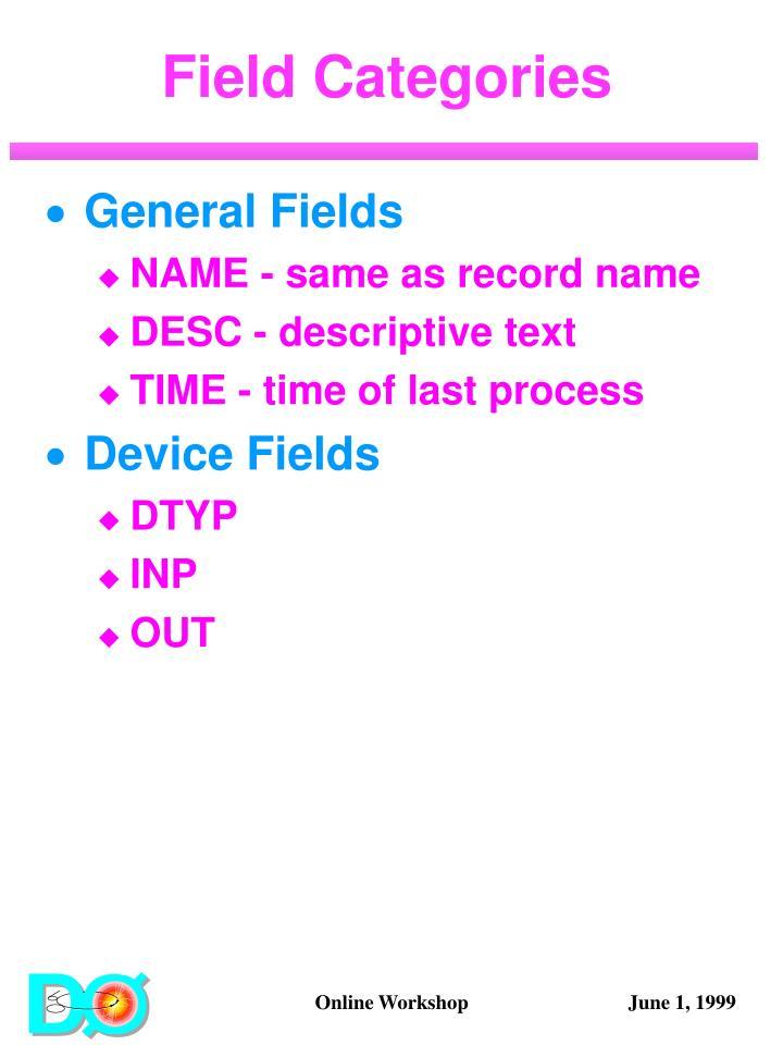Field Categories