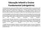 educa o infantil e ensino fundamental obrigat rio